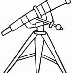 דף צביעה משקפת לצפייה בכוכבים