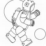דף צביעה אסטרונאוט בחלל 6