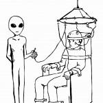 חייזר עורך ניסוי על אדם