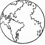 דף צביעה כדור הארץ