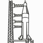 דף צביעה חללית 3