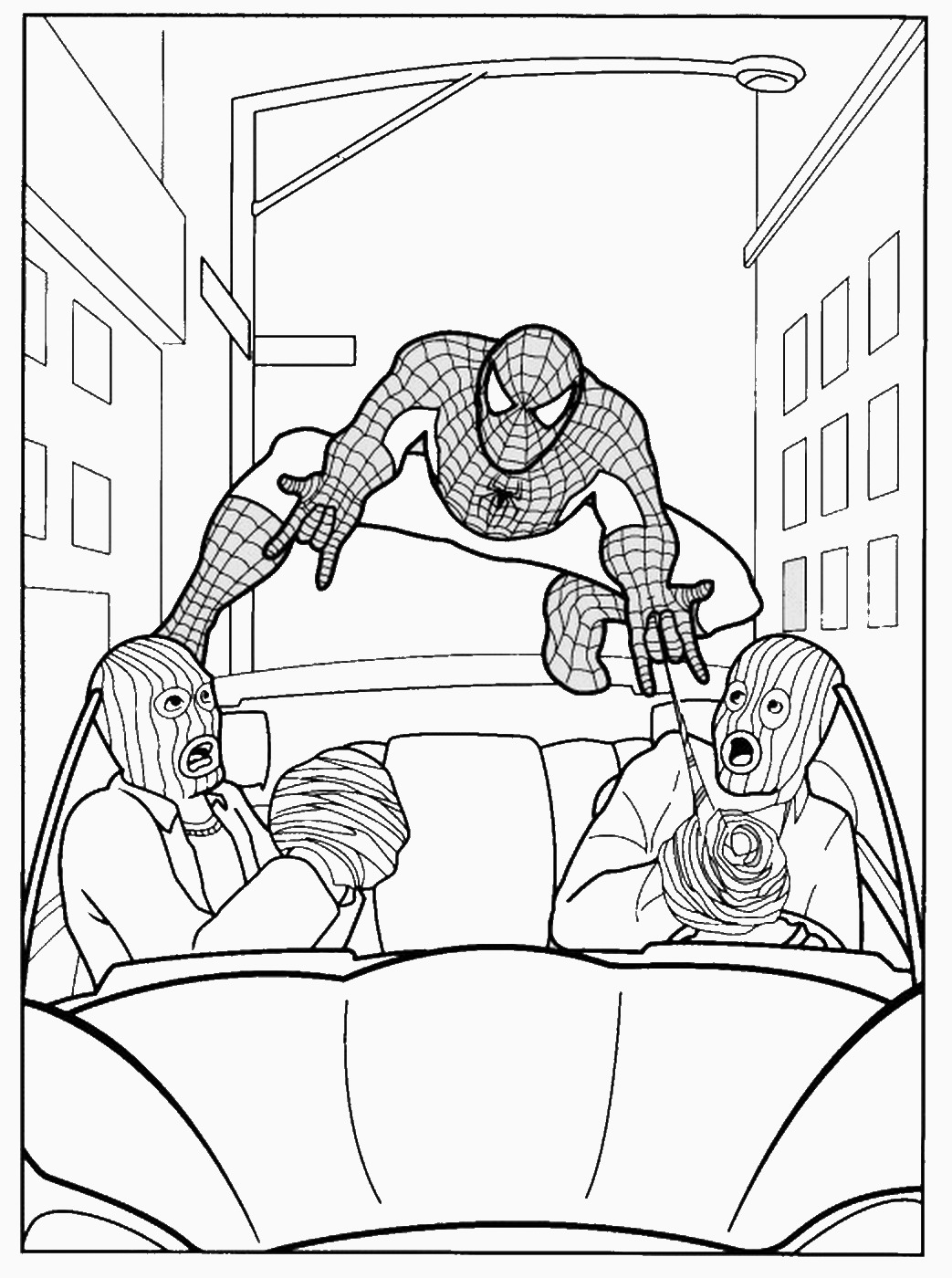 Spider man outline coloring pages sketch coloring page for Spiderman 3 coloring pages