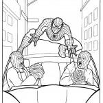 דף צביעה ספיידרמן 38