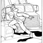 דף צביעה ספיידרמן 34