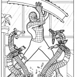 דף צביעה ספיידרמן 54
