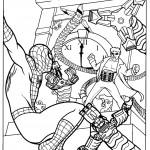 דף צביעה ספיידרמן 12
