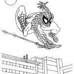 דף צביעה ספיידרמן 9