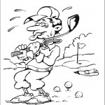 דף צביעה משחק גולף 5