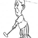 דף צביעה משחק גולף 1