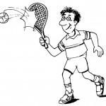 דף צביעה משחק טניס 6