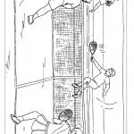 דף צביעה משחק טניס 5