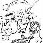 דף צביעה משחק טניס 3