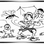 דף צביעה יתושים מרגיזים במחנה