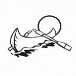 דף צביעה סירת משוטים