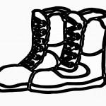 דף צביעה נעליים אלו מיועדות להליכה