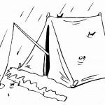 דף צביעה אפשר לדוג מתוך האוהל