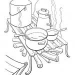 דף צביעה בישול בטבע