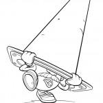 דף צביעה ראש-תפוד תקוע בקונוס