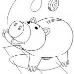 דף צביעה הם בובת החזיר