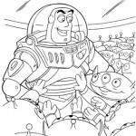 דף צביעה באז שנות-אור והחייזרים