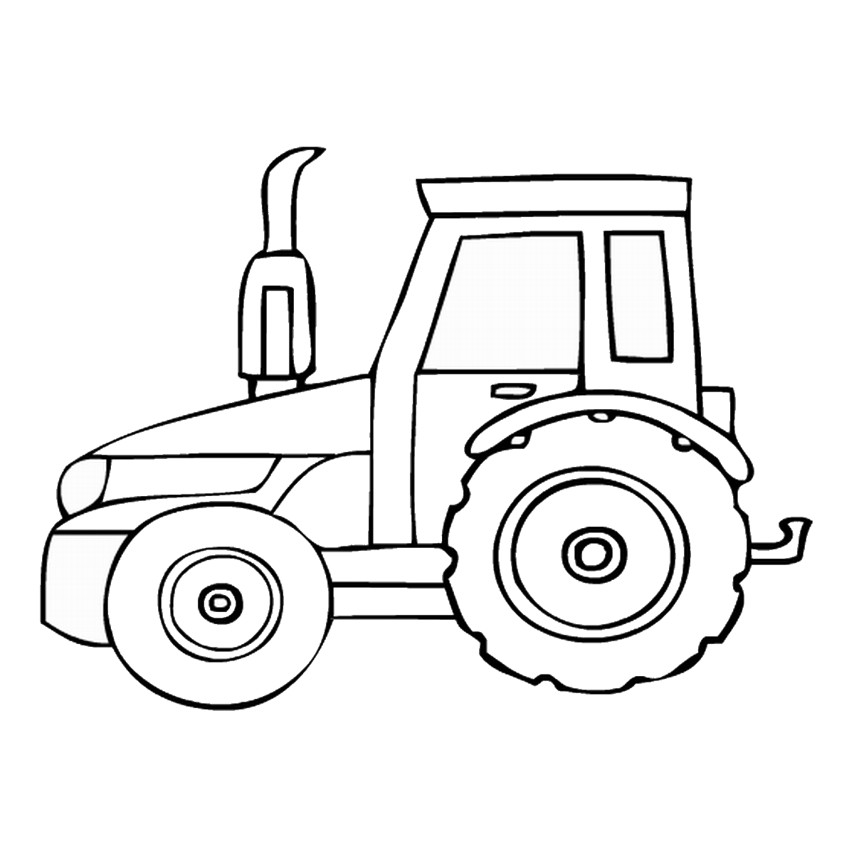 Free coloring pages of tractors to print for Tractor coloring pages to print