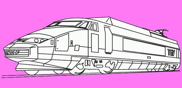 לחצו על דפי הצביעה של רכבות להגדלה ולהדפסה