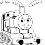 דף צביעה רכבת 1