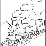 דף צביעה רכבת ישנה