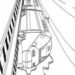 דף צביעה רכבת מהירה 2