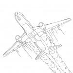 דף צביעה מטוס 9