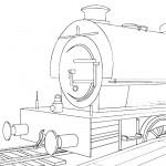 דף צביעה רכבת 6