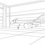 דף צביעה מטוס 8
