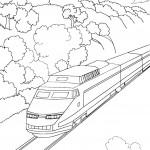 דף צביעה רכבת 5