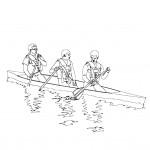 דף צביעה סירה 5
