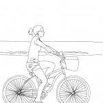 דף צביעה אופניים 1