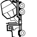 דף צביעה משאית 10