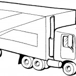 דף צביעה משאית 8