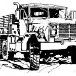 דף צביעה משאית 5