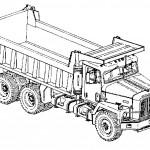 דף צביעה משאית 1