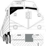 דף צביעה רכבת 3
