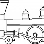 דף צביעה רכבת 7