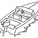 דף צביעה סירה 4