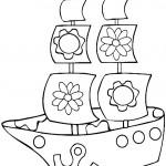 דף צביעה ספינה 3