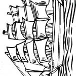 דף צביעה ספינה 1