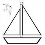 דף צביעה סירה 3