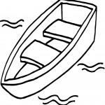 דף צביעה סירה 2