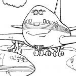 דף צביעה מטוס 6