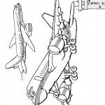 דף צביעה מטוס 5