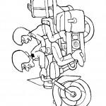 דף צביעה אופנוע 1