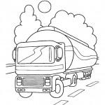 דף צביעה משאית דלק 2